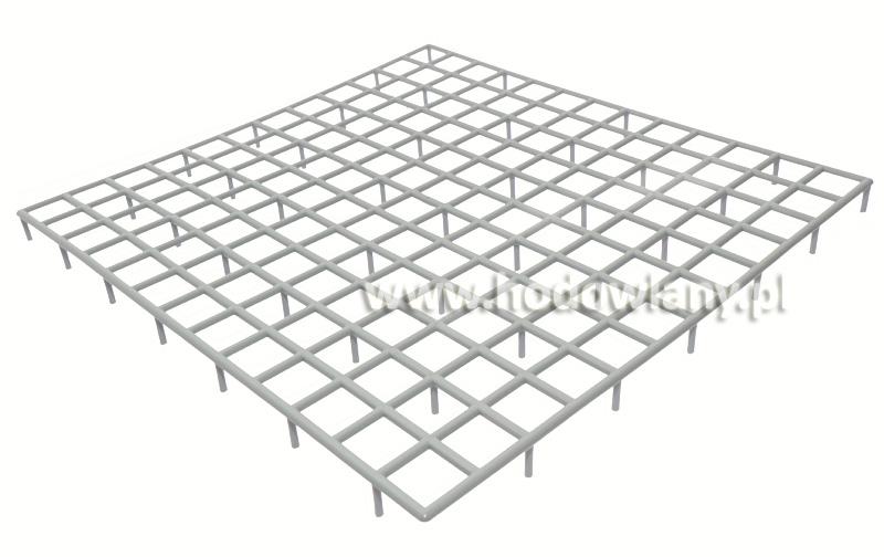 Ruszt do cel dla go��bi szary, 37x34x2cm - zdjecie 1