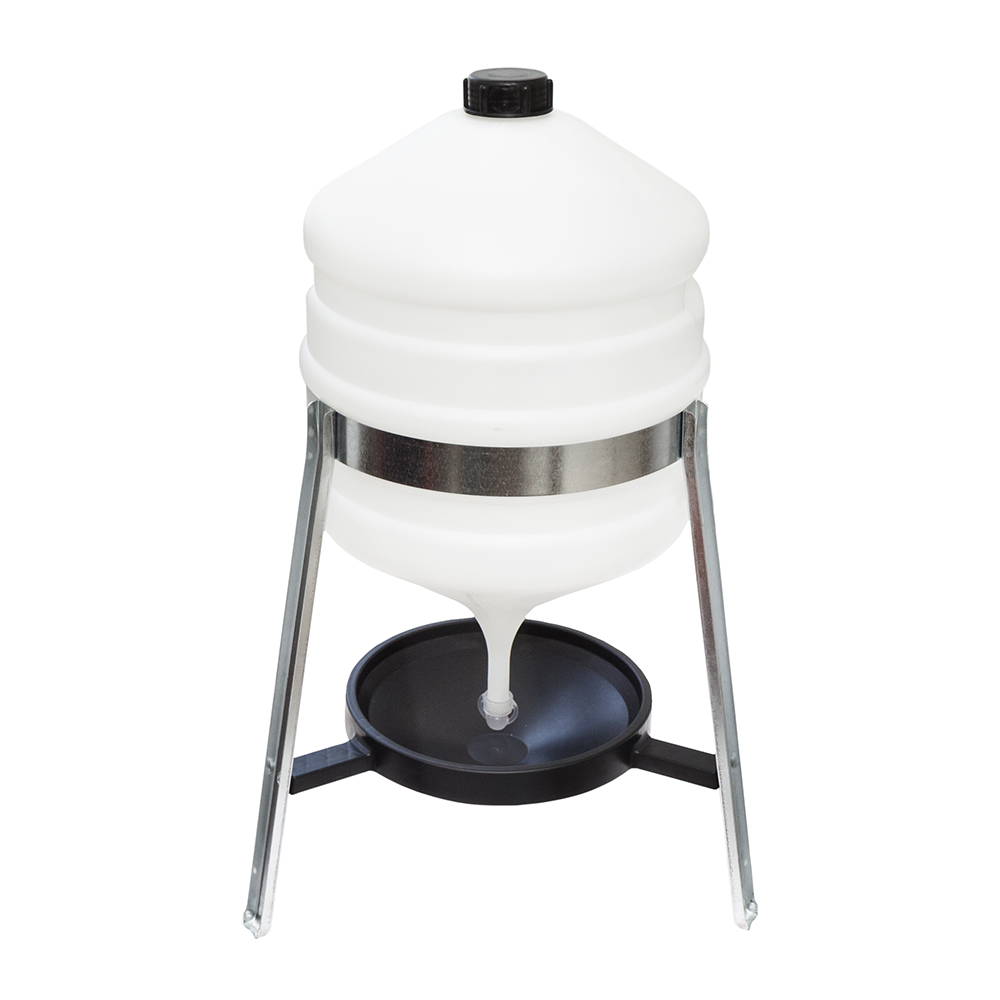 Poid�o zbiornikowe syfon 30l plastikowe na stojaku