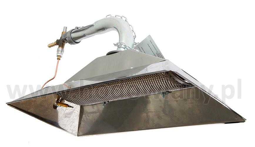 Promiennik gazowy - nagrzewnica  4800 WAT kompletny - zdjecie 1