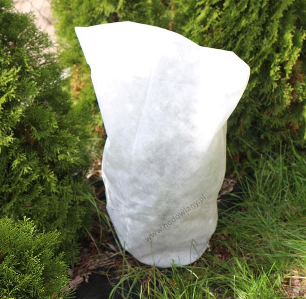Agrowłóknina biała P50 okryciowy kaptur zimowy 0,8 x 1,2 m - zdjecie 1