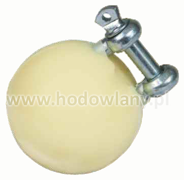 Piłka dla prosiąt antystresowa z uchwytem fi 5,5 cm ze stali nierdzewnej - zdjecie 1