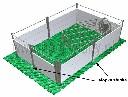 Stopka mocująca słupek do budowy wygrodzeń w rusztach podłogowych dla trzody chlewnej - zdjecie 3