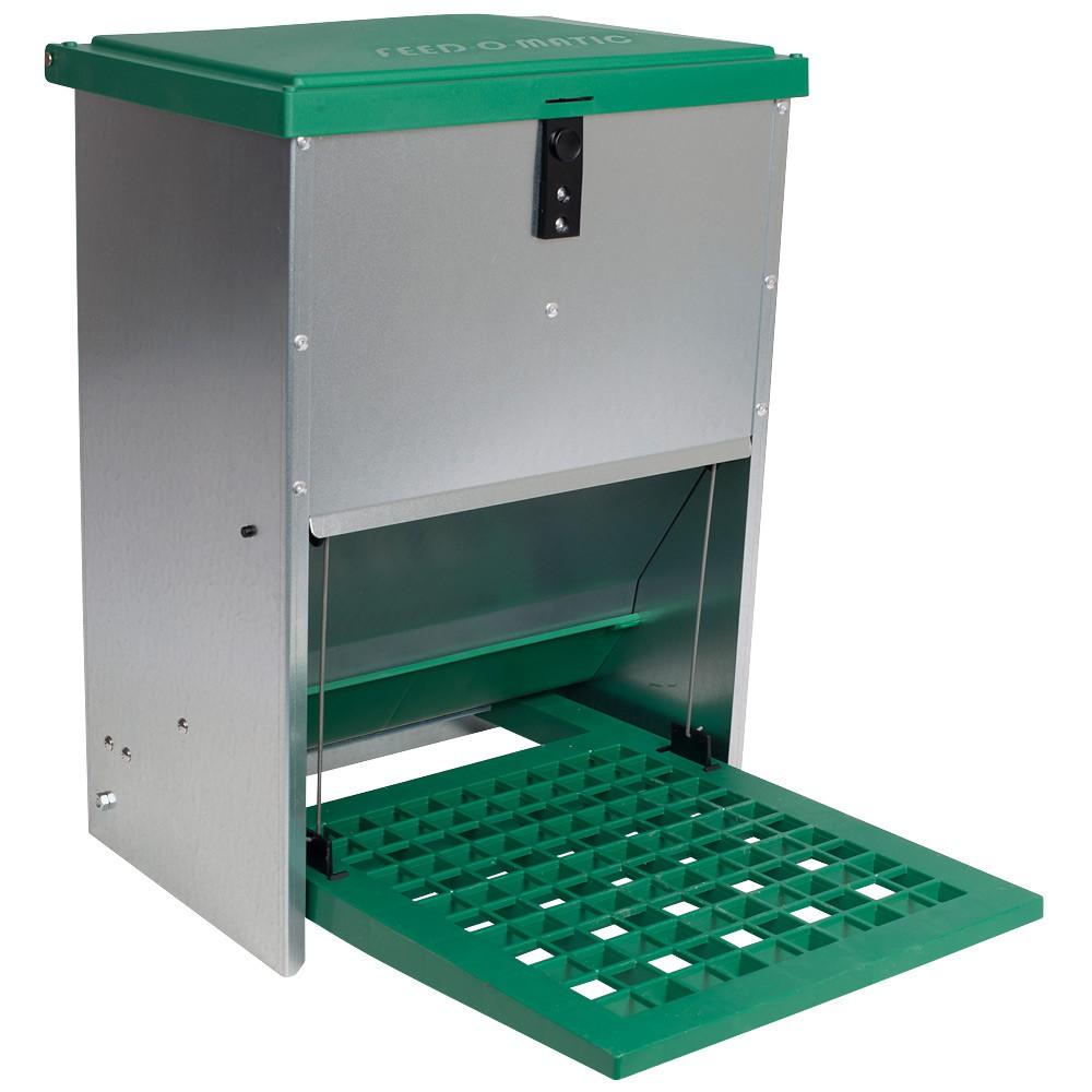 Karmnik zewnętrzny dla drobiu samozamykany Feed-Saver 12 kg - zdjecie 1