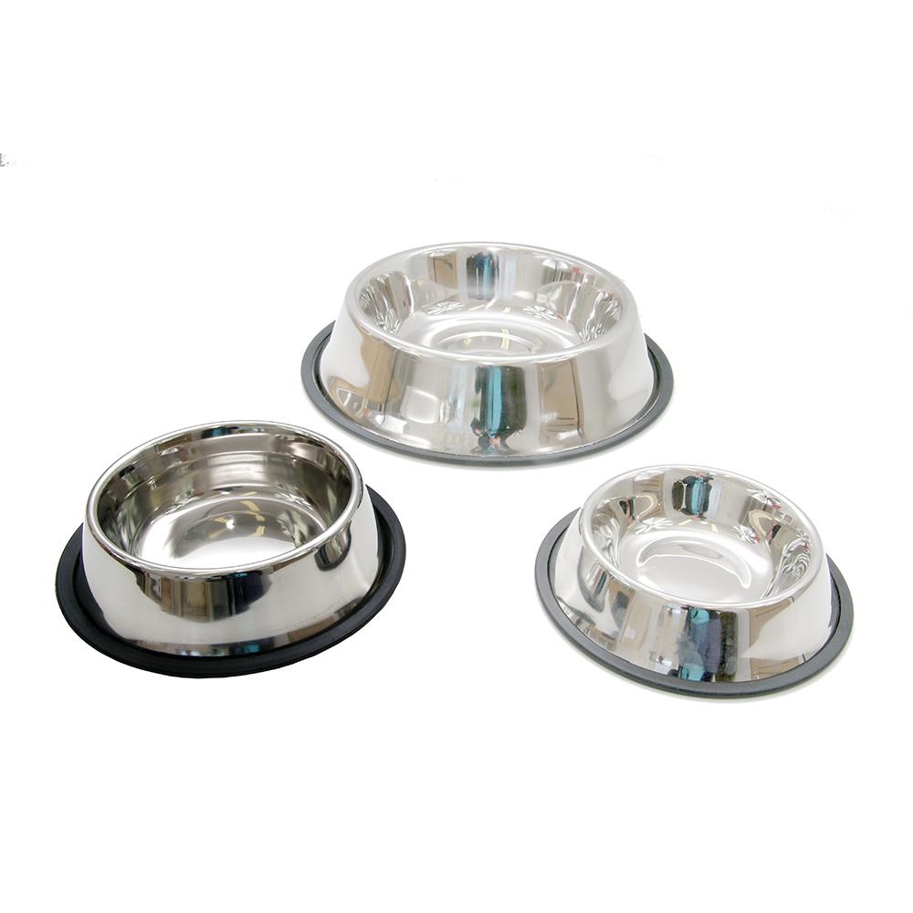 Średnia miska ze stali nierdzewnej dla psa i kota 1 litr - zdjecie 1
