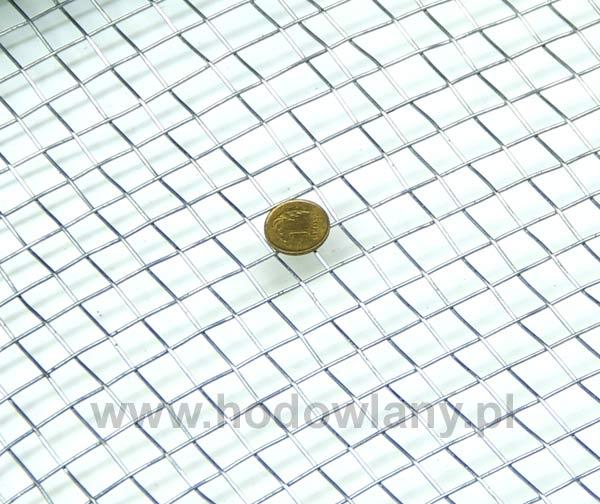 Siatka sito tkane ocynk oczko 8 mm - rolka 5 mb - zdjecie 1