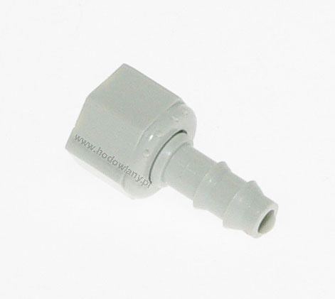 Króciec z nakrętką na wąż fi 7 mm (TAV 4 + TAV 5) - zdjecie 1