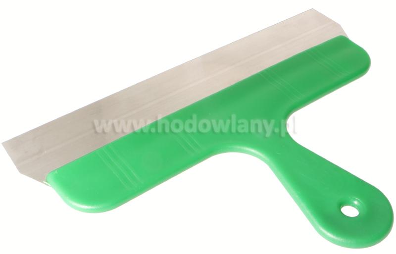 Szpachelka do usuwania pomiotu z klatek, zielona szerokość 30 cm - zdjecie 1