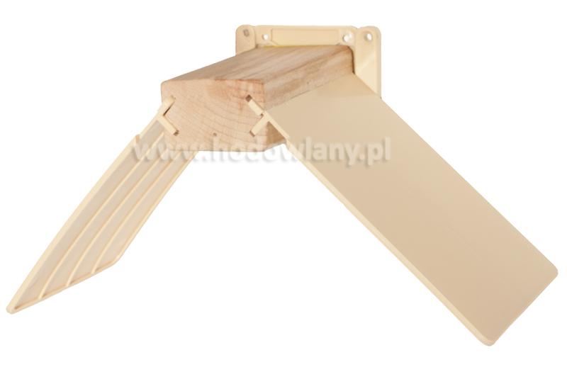 Siodełko wypoczynkowe dla gołębi pocztowych, drewniane z uchwytem do zawieszania na ścianie - zdjecie 1
