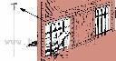 Widełki do wlotów dla gołębi 30cm, aluminiowe - zdjecie 3