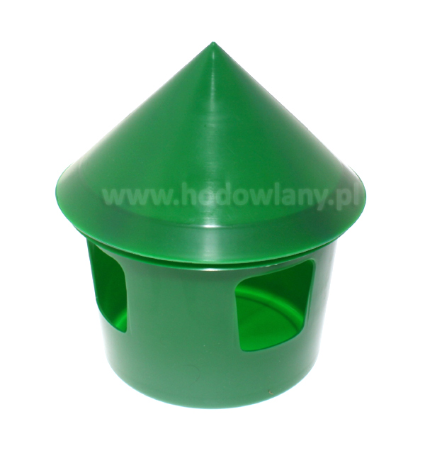 Poidło dla gołębi typ belgijski 1 litr, kolor zielony - zdjecie 1