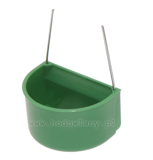 Pojemnik na wodę i paszę dla kanarków i papug mocowane na drut zielone duże - zdjecie 1