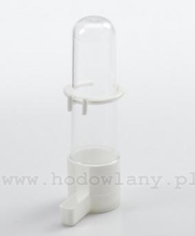 Poidło fontanna dla papużek i kanarków 100 ml białe z zaczepem - zdjecie 1