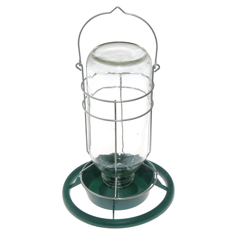 Poidło karmidło dla papug na szklaną butelkę 1 litr - zdjecie 1