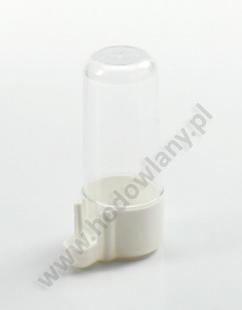 Poidełko dla kanarków i papużek MINI 70 ml białe z transparentnym zasobnikiem - zdjecie 1