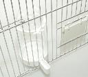 Pojemnik na paszę i wodę dla kanarków i papug, 350 ml biały uniwersalny - zdjecie 2