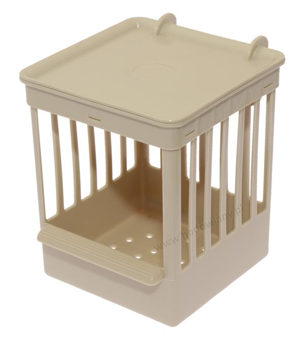 Budka lęgowa dla papug i kanarków zawieszana na zewnątrz klatki - beżowa - zdjecie 1