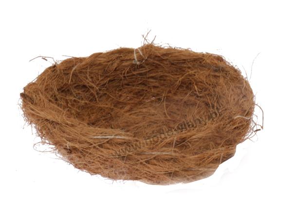 Gniazdo lęgowe z włókna kokosowego dla papug i kanarków - zdjecie 1