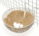 Gniazdo lęgowe dla kanarków i papug z siatki metalowej z zaczepami 12 x 6 cm - zdjecie 2