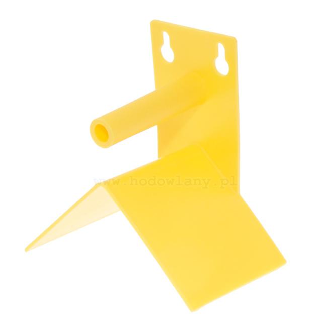 Siodełko dla kanarków i papug żółte mocowane do klatki - zdjecie 1