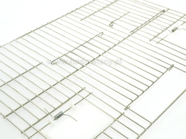 Front do klatki dla kanarków i papug 2 x drzwiczki 2 x klapki - 40 x 30 cm - zdjecie 1