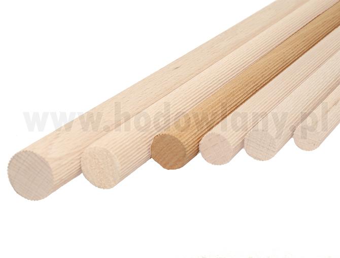 Żerdki drewniane z prążkami buk dla kanarków i papug 16 mm 1 szt. - zdjecie 1