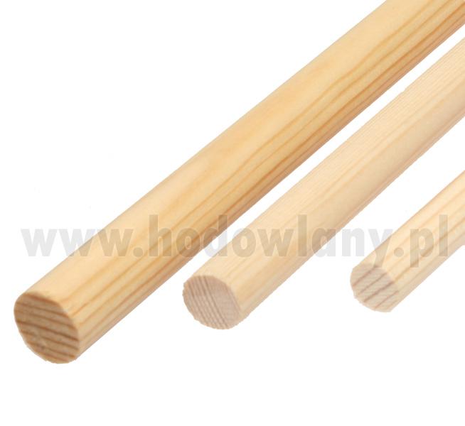 Żerdka drewniana dla papug i kanarków 14 mm sosnowa - zdjecie 1