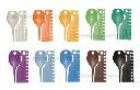 Znaczniki dla kanarków 2,5 mm plastikowe numerowane 0-9 - zdjecie 2