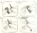 Obrączki dla kanarków 3 mm plastikowe, numerowane 0-9 - zdjecie 3