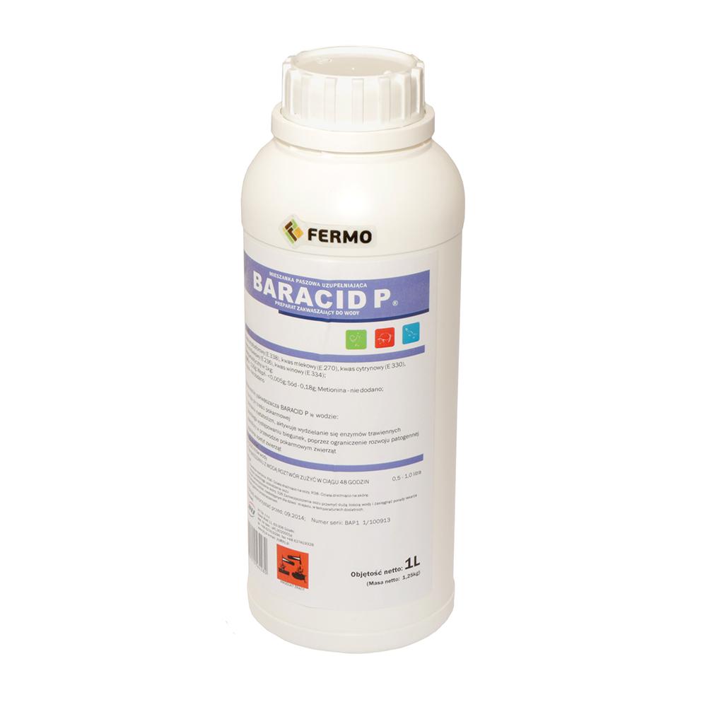 BARACID P 1l zakwaszacz płynny dla królików, trzody chlewnej i drobiu - zdjecie 1