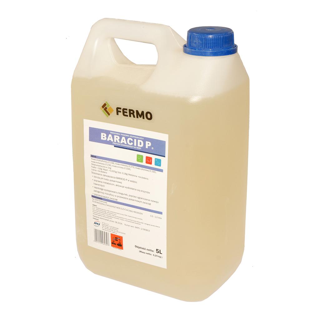 BARACID P 5l preparat zakwaszający dla trzody chlewnej, drobiu, królików - zdjecie 1