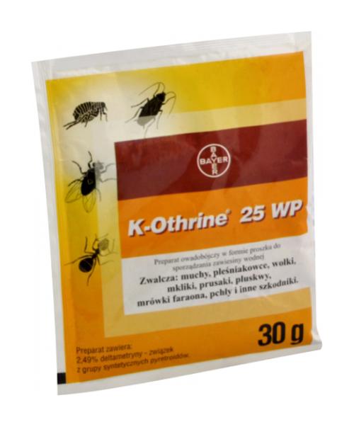 K-OTHRINE 25 WP 30g preparat do zwalczania owadów biegających i latających