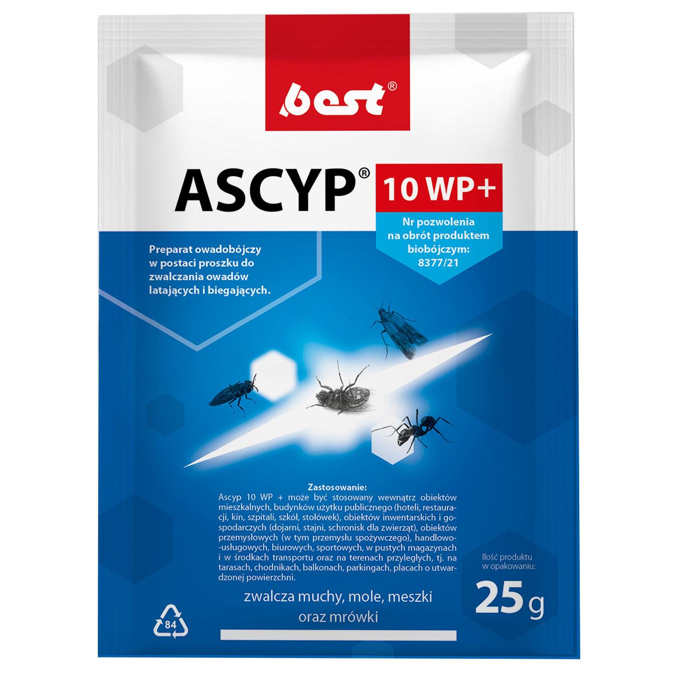 ASCYP 10 WP 25 g środek owadobójczy na owady biegające i latające