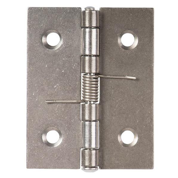 Zawias ze stali nierdzewnej ze sprężyną, 50 x 39 x 1mm - zdjecie 1