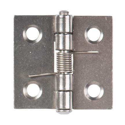 Zawias ze stali nierdzewnej ze sprężyną, 30 x 31 x 1 mm - zdjecie 1