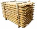 Słupek drewniany fi 6 cm przelotowy do pastucha h-200 cm - zdjecie 2