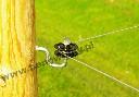 Izolator narożny z rolką do drutu, plecionki, linki stalowej - zdjecie 3