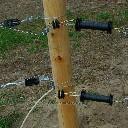 Izolator bramowy dwustronny z wkrętem do drewna - zdjecie 3