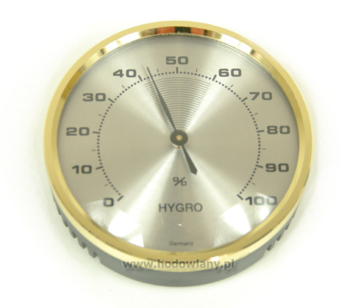 Higrometr analogowy - wilgotnościomierz do inkubatorów, duża tarcza