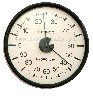 Termohigrometr analogowy do inkbatorów, klujników, odchowaników duża tarcza - 103 mm