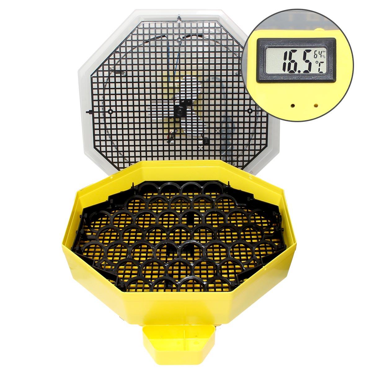 Inkubator iBator HOME 60 z wyświetlaczem temp. i wilgotności + zbiornik na wodę - zdjecie 1