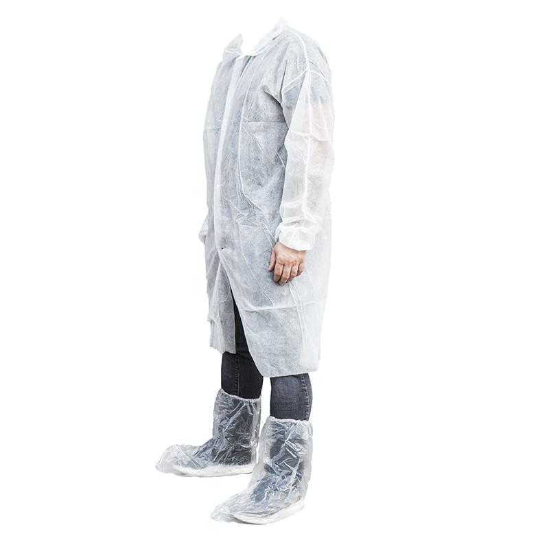 Fartuchy laboratoryjne z włókniny na zatrzaski  XL - 10 szt. - zdjecie 1