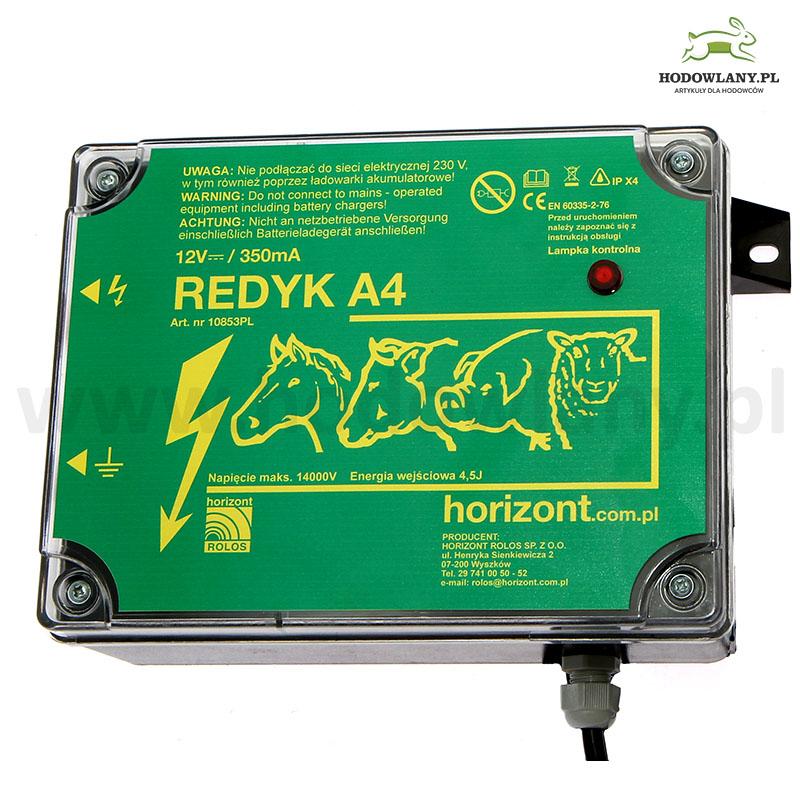Pastuch akumulatorowy Redyk A4 do wypasu bydła 3J - zdjecie 1