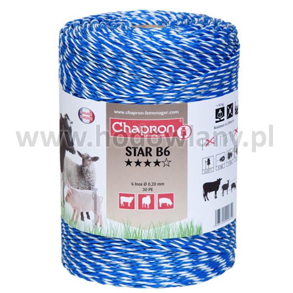 Plecionka niebieska do pastuchów Star B6 rolka 500 m
