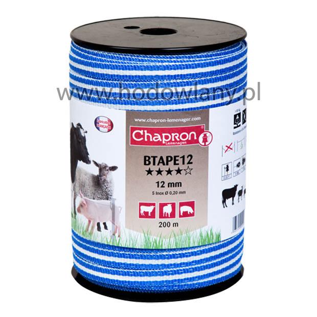 Taśma niebieska 12 mm do ogrodzeń elektrycznych BTape12 rolka 200 m