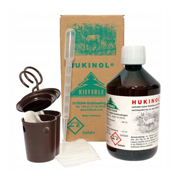 Odstraszacz dzikiej zwierzyny HUKINOL 500 ml + akcesoria do rozwieszenia i nasączenia   - zdjecie 1
