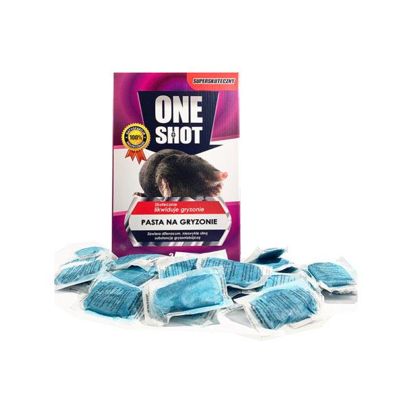 Trutka na krety, nornice, gryzonie w paście ONE SHOT 0,5 kg
