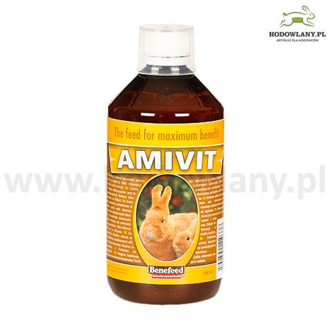 AMIVIT 500 ml witaminy i aminokwasy dla królików