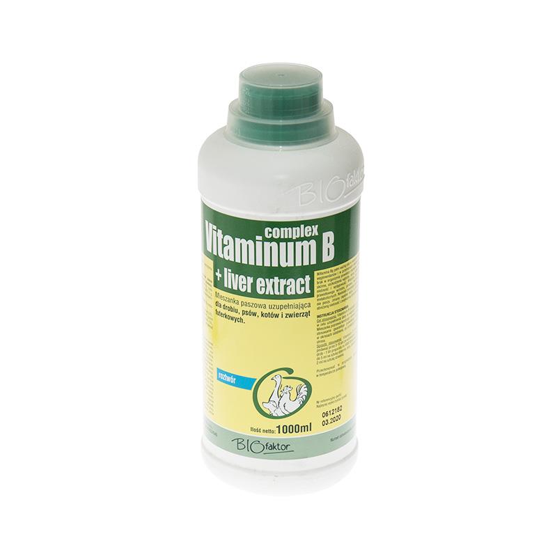 VITAMINUM B-COMPLEX + LIVER EXTRACT 1000 ml zestaw witamin B z wyciągiem wątrobowym