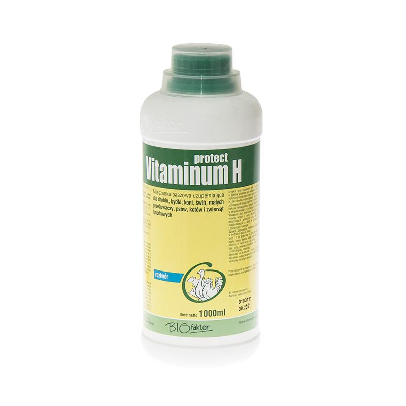 VITAMINUM H PROTECT 1000 ml zestaw witamin na lepsze upierzenie i choroby skóry