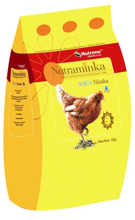 Witaminy dla niosek do wody Nutraminka AQUA 500 g